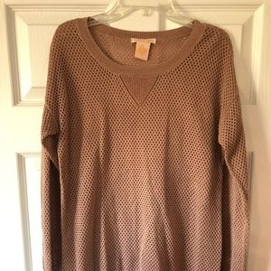 Camel-colored Knit Sweater